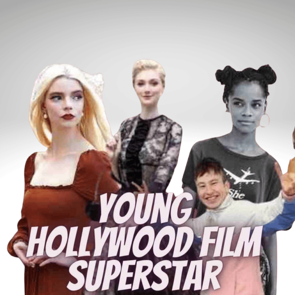 young Hollywood film superstar